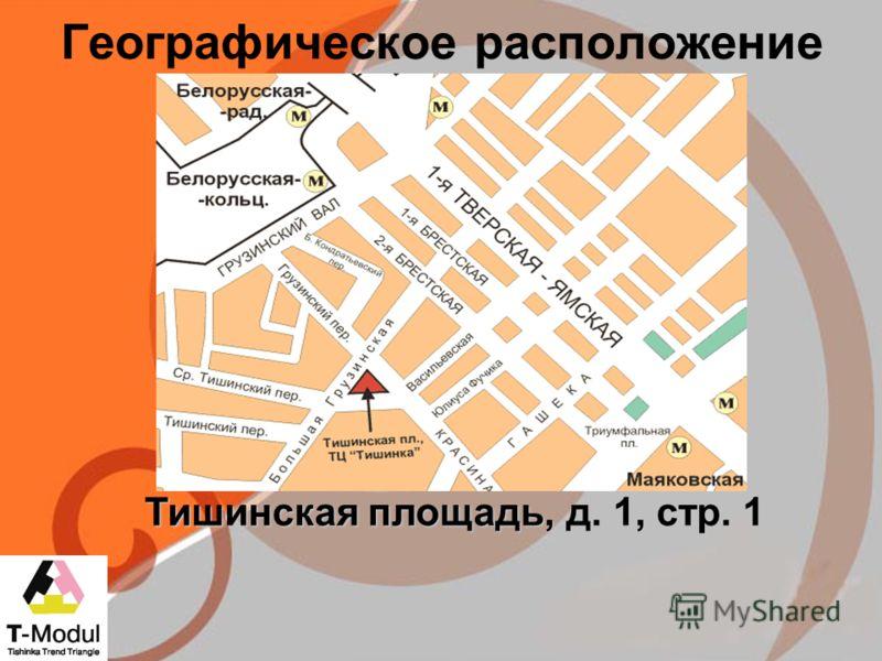 Географическое расположение Тишинская площадь, д. 1, стр. 1