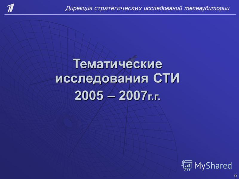 Тематические исследования СТИ 2005 – 2007 г.г. 6