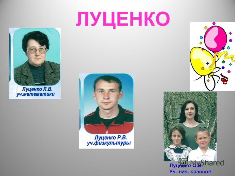 ЛУЦЕНКО Луценко О.В. Уч. нач. классов