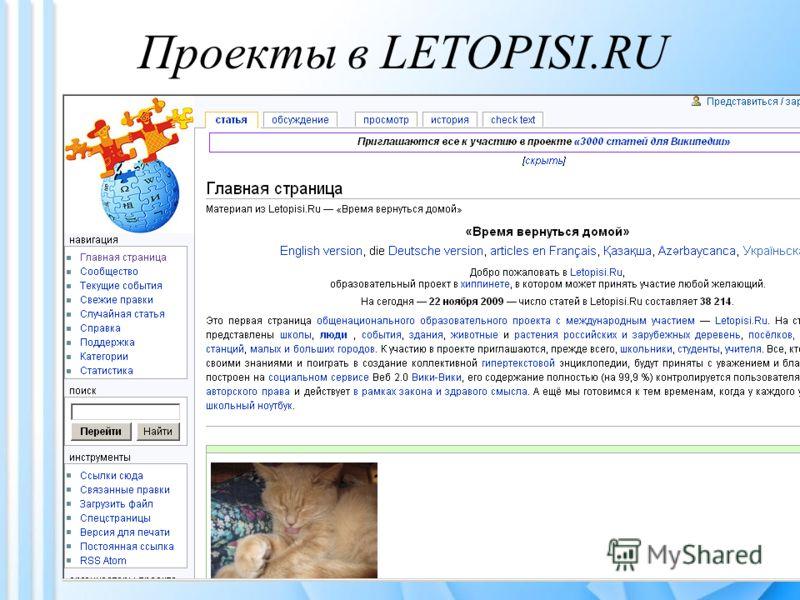 Проекты в LETOPISI.RU