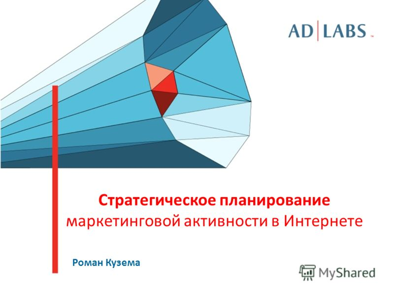 Стратегическое планирование маркетинговой активности в Интернете Роман Кузема