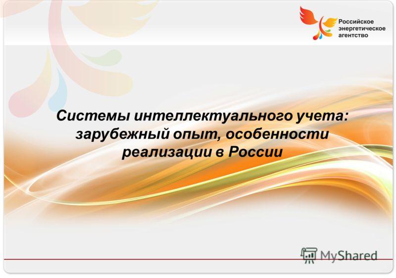 Российское энергетическое агентство Системы интеллектуального учета: зарубежный опыт, особенности реализации в России
