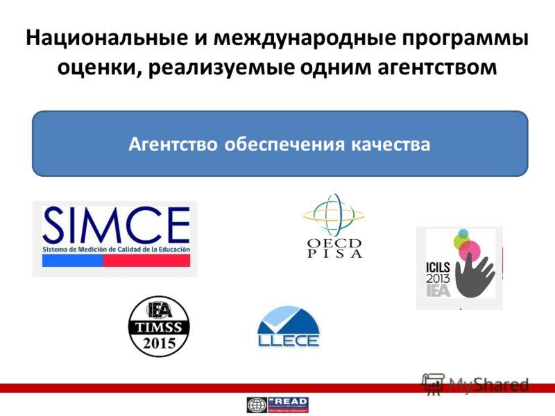 Национальные и международные программы оценки, реализуемые одним агентством Агентство обеспечения качества