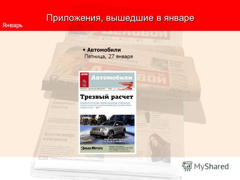 Приложения, вышедшие в январе Январь Автомобили Пятница, 27 января