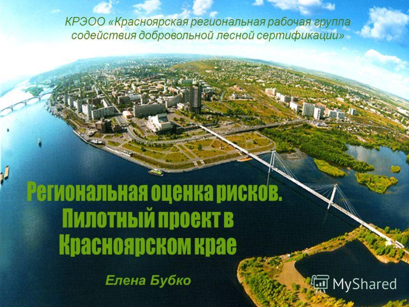КРЭОО «Красноярская региональная рабочая группа содействия добровольной лесной сертификации» Елена Бубко
