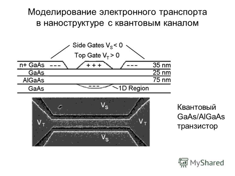 Моделирование электронного транспорта в наноструктуре c квантовым каналом Квантовый GaAs/AlGaAs транзистор