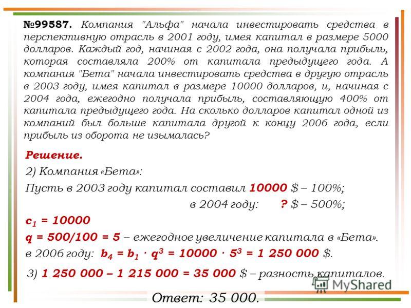 99587. Компания