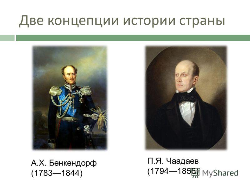 Две концепции истории страны А.Х. Бенкендорф (17831844) П.Я. Чаадаев (17941856)