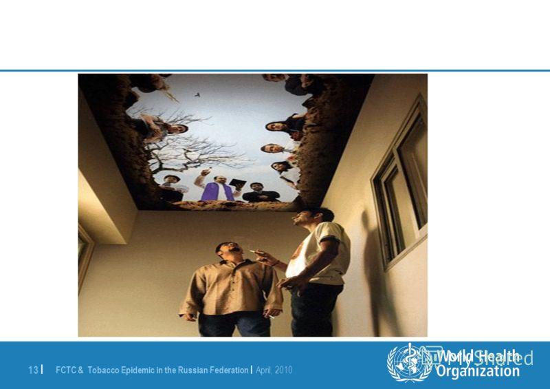 FCTC & Tobacco Epidemic in the Russian Federation | April, 2010 13 | Потолочный плакат в зале для курения