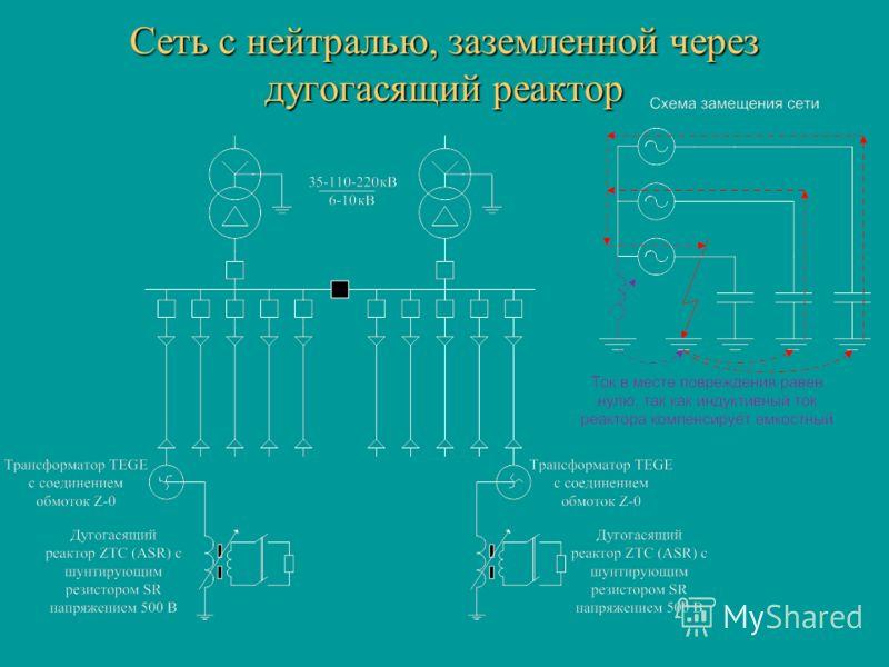 Сеть с нейтралью, заземленной через дугогасящий реактор