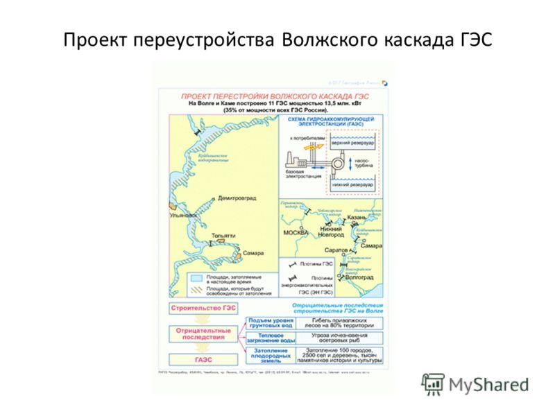 Проект переустройства Волжского каскада ГЭС