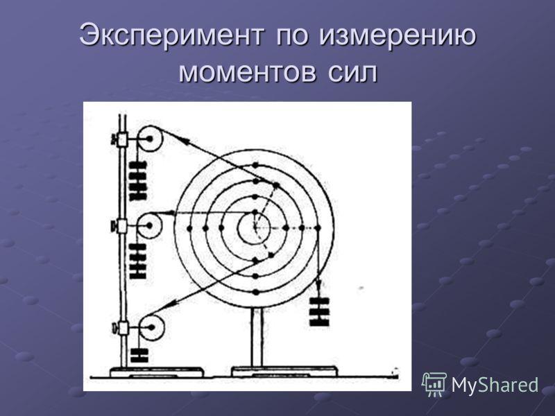 Эксперимент по измерению моментов сил