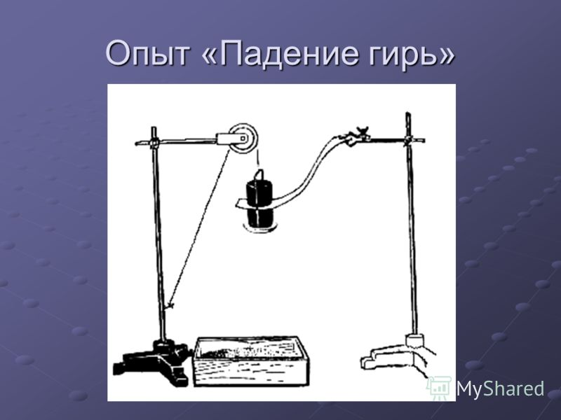 Опыт «Падение гирь»