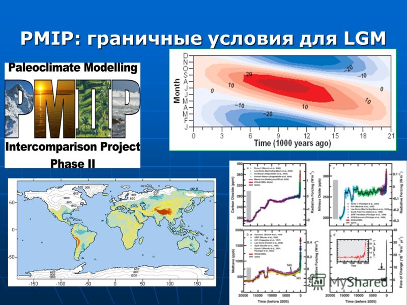 PMIP: граничные условия для LGM