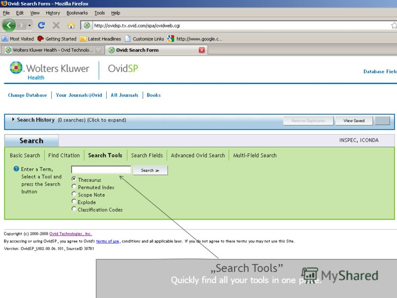 Search Tools Quickly find all your tools in one place.