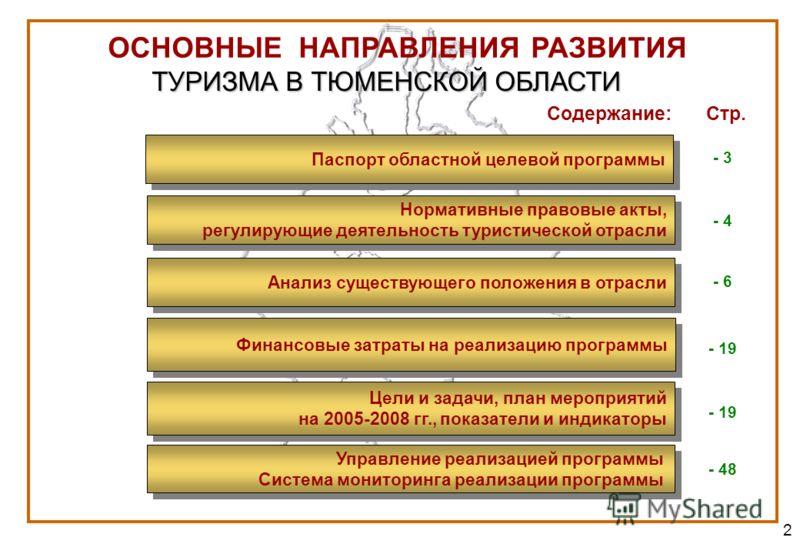 2 Анализ существующего положения в отрасли Цели и задачи, план мероприятий на 2005-2008 гг., показатели и индикаторы Цели и задачи, план мероприятий на 2005-2008 гг., показатели и индикаторы Управление реализацией программы Система мониторинга реализ