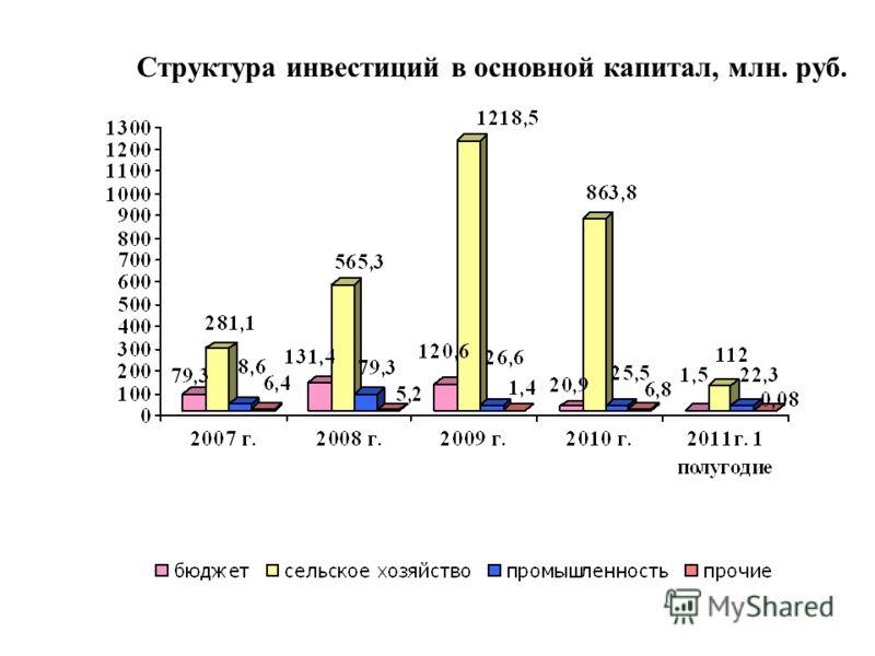 Структура инвестиций в основной капитал, млн. руб.