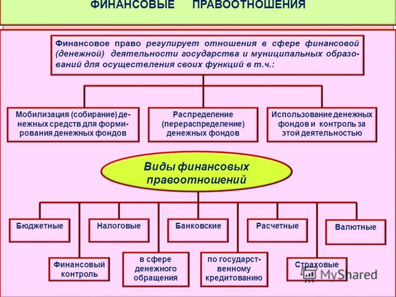 Субъекты финансового права и финансовых правоотношений Финансовое  Субъекты финансовых правоотношений курсовая работа