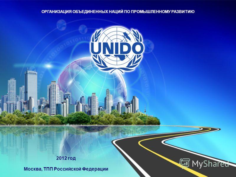 ОРГАНИЗАЦИЯ ОБЪЕДИНЕННЫХ НАЦИЙ ПО ПРОМЫШЛЕННОМУ РАЗВИТИЮ 2012 год Москва, ТПП Российской Федерации