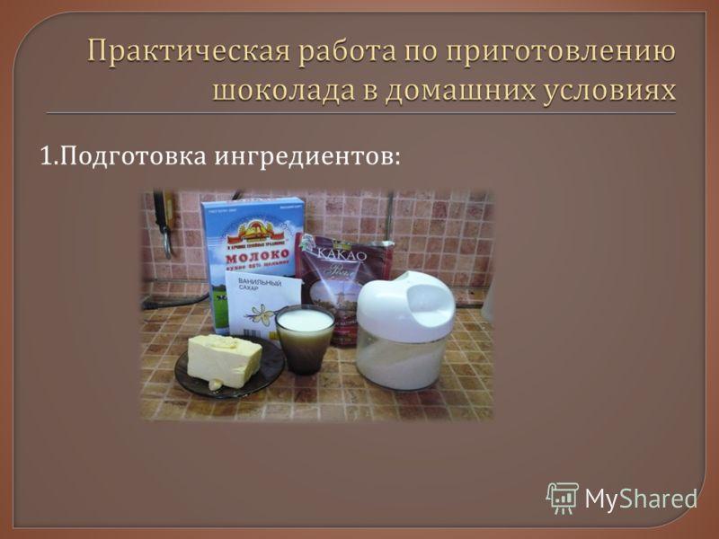 1. Подготовка ингредиентов :