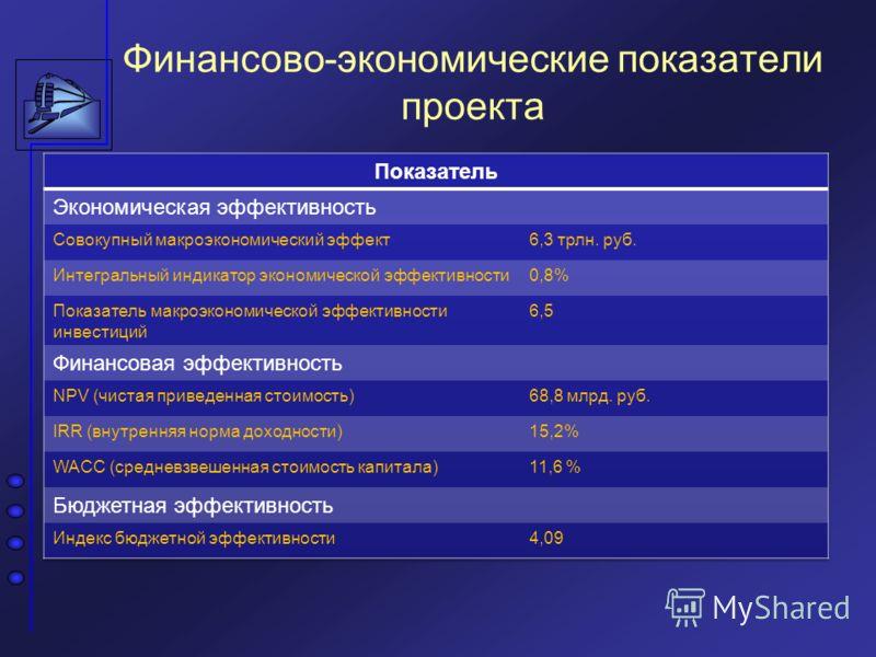 Финансово-экономические показатели проекта