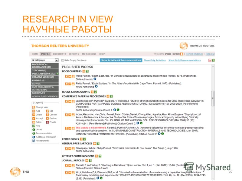 RESEARCH IN VIEW НАУЧНЫЕ РАБОТЫ 27