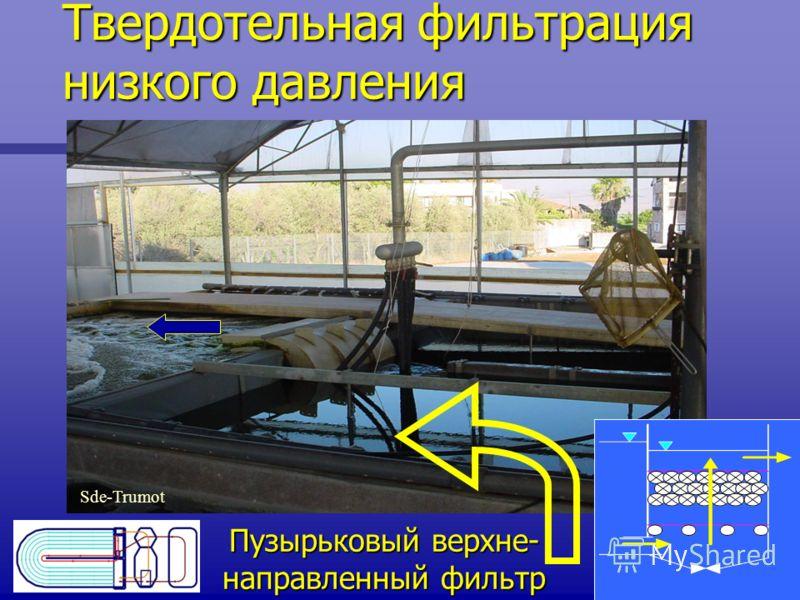 Твердотельная фильтрация низкого давления Sde-Trumot Пузырьковый верхне- направленный фильтр