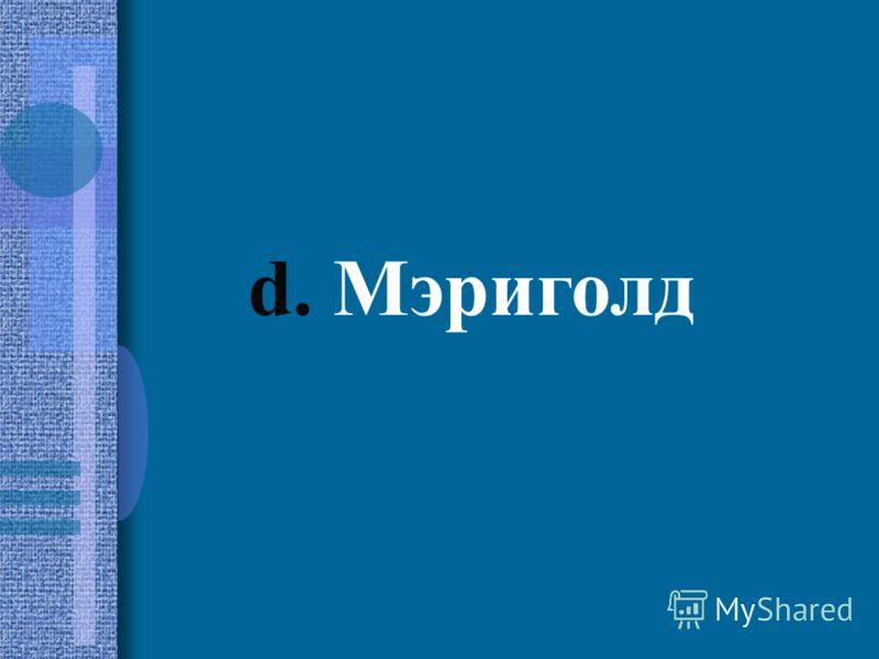 d. Мэриголд