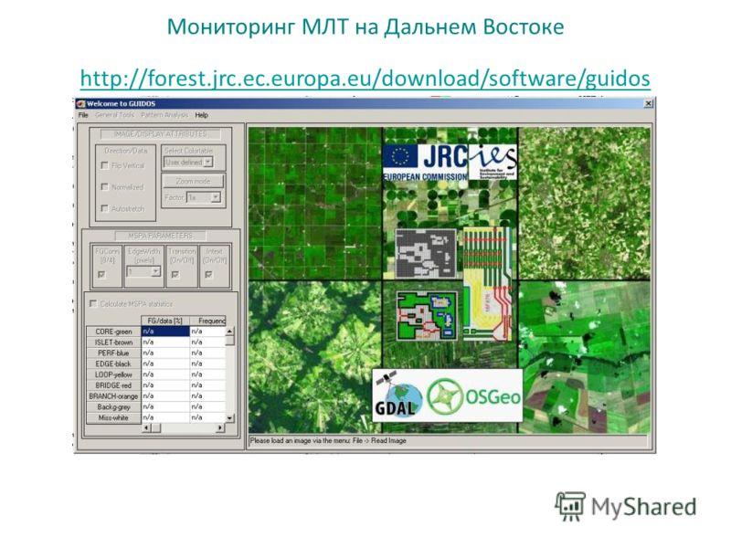 Мониторинг МЛТ на Дальнем Востоке http://forest.jrc.ec.europa.eu/download/software/guidos