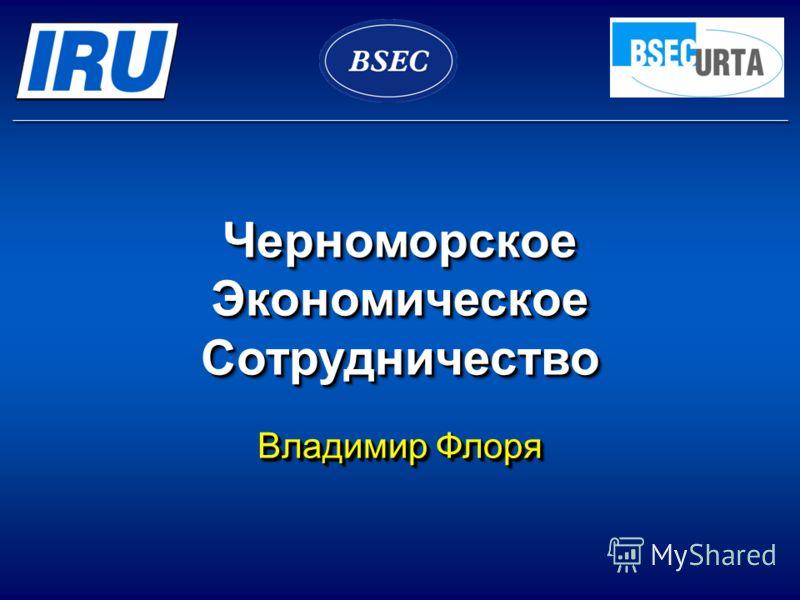Черноморское Экономическое Сотрудничество Владимир Флоря