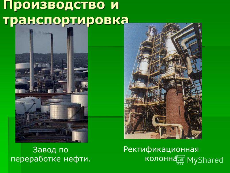 Завод по переработке нефти. Производство и транспортировка Ректификационная колонна