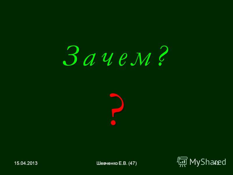 Зачем?? 15.04.201343Шевченко Е.В. (47)