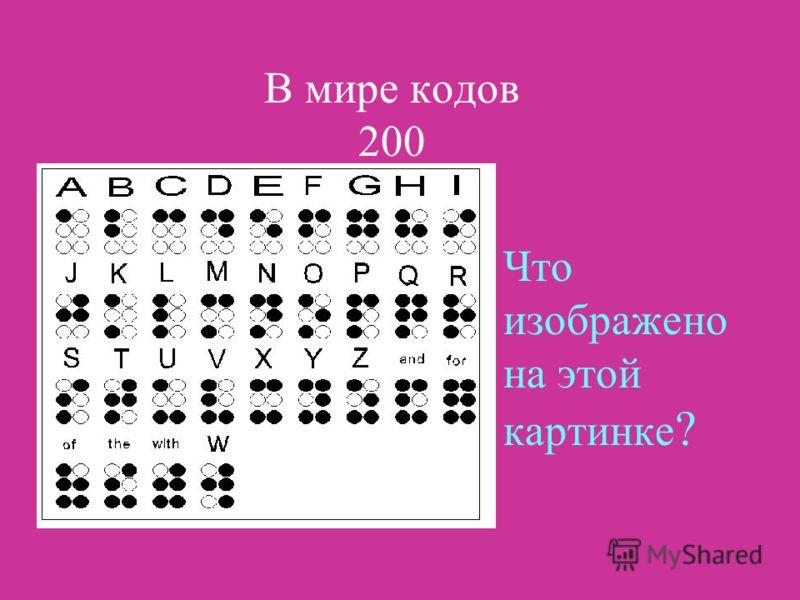 НАЗАДВЫХОД Ответ: Код это система условных знаков для представления информации.