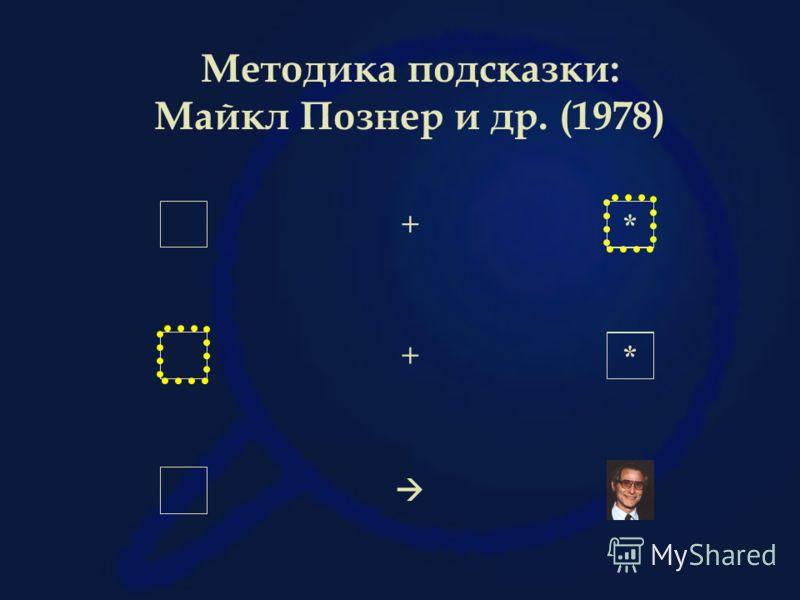 + * + * Методика подсказки: Майкл Познер и др. (1978)