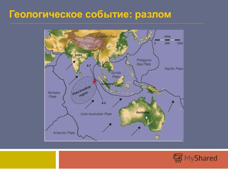 Геологическое событие: разлом