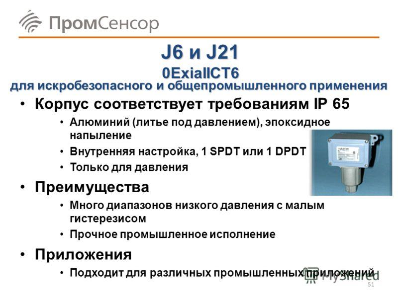 Серия 400 0ExiaIICT6 Корпус соответствует требованиям IP 65 Алюминий (литье под давлением), эпоксидное напыление Внутренняя настройка: 1, 2 или 3 уставки Преимущества До 3-х уставок Широкие диапазоны, малый гистерезис Простое электрическое подключени