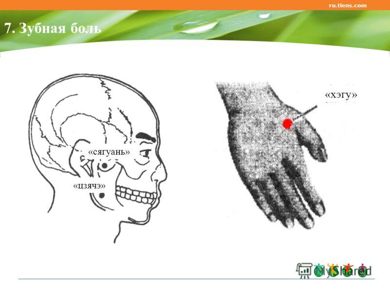 ru.tiens.com 7. Зубная боль «хэгу» «сягуань» «цзячэ»