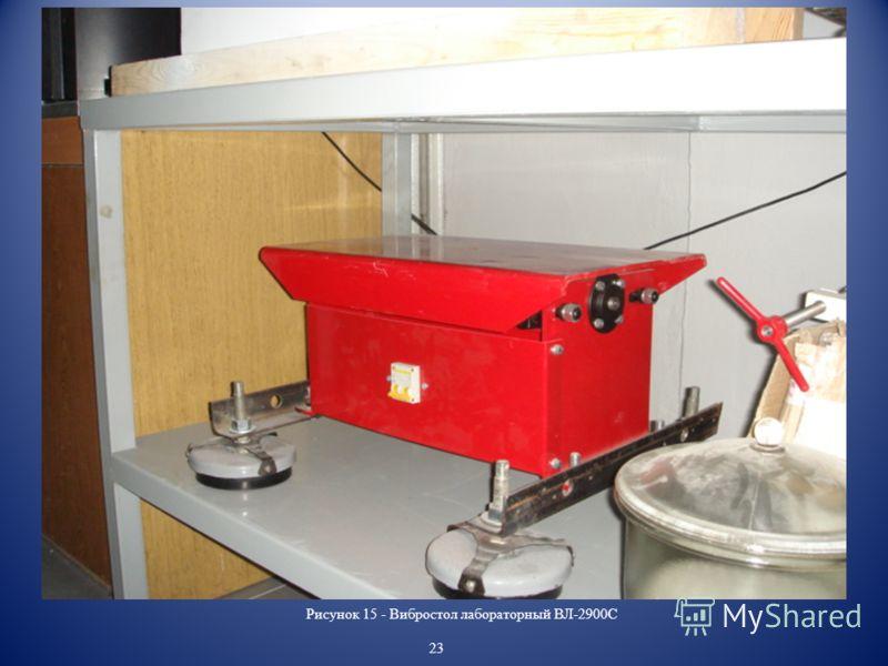 Рисунок 15 - Вибростол лабораторный ВЛ-2900С 23
