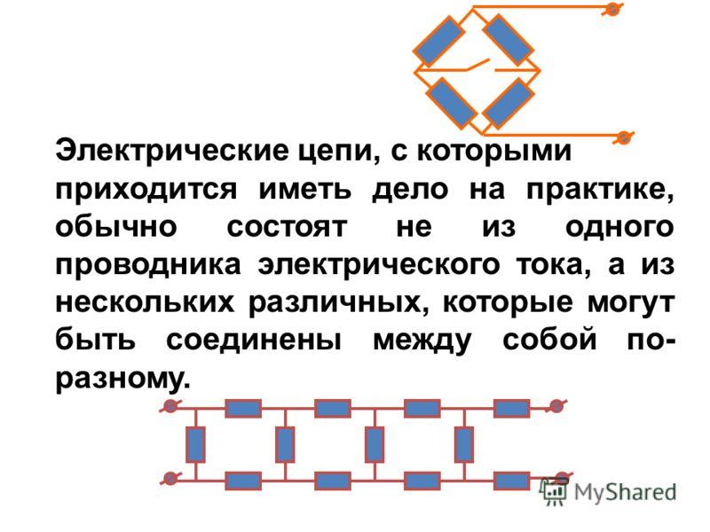ПоследовательноеПараллельное Схема Сохраняющаяся величинаI=I 1 =I 2 = I 3 =constU=U 1 =U 2 =U 3 =const Суммируемые величиныU=U 1 +U 2 +U 3 I=I 1 +I 2 +I 3 Результирующее сопротивление R=R 1 +R 2 +R 3 1/R=1/R 1 + 1/R 2 +1/R 3