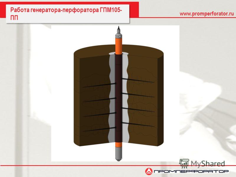 www.promperforator.ru Работа генератора-перфоратора ГПМ105- ПП