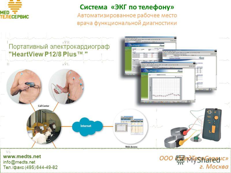 Система «ЭКГ по телефону» Измерительные приборы Портативный электрокардиограф