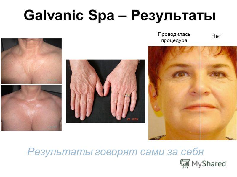 Galvanic Spa – Результаты Результаты говорят сами за себя Нет Проводилась процедура