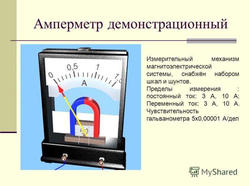 Амперметр демонстрационный