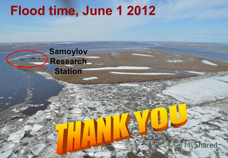 Flood time, June 1 2012 Samoylov Research Station