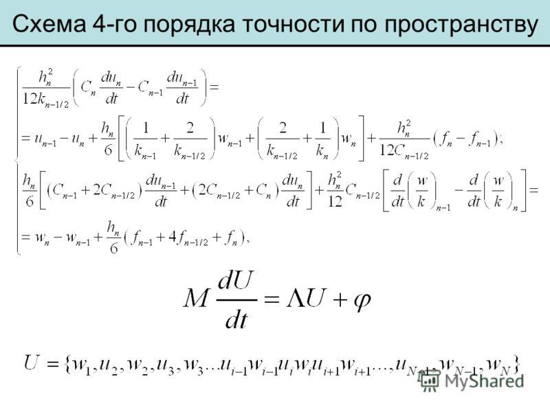 Схема 4-го порядка точности по пространству