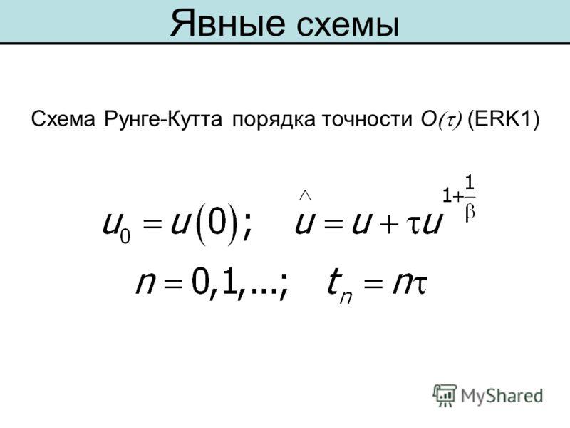 Схема Рунге-Кутта порядка точности O (ERK1) Явные схемы