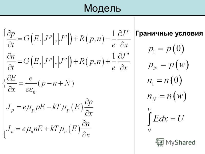 Модель Граничные условия