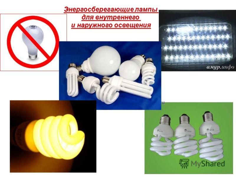 Энергосберегающие лампы для внутреннего и наружного освещения