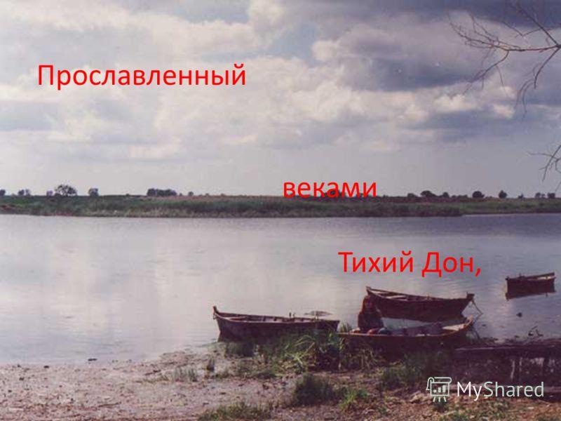 Прославленный веками Тихий Дон,