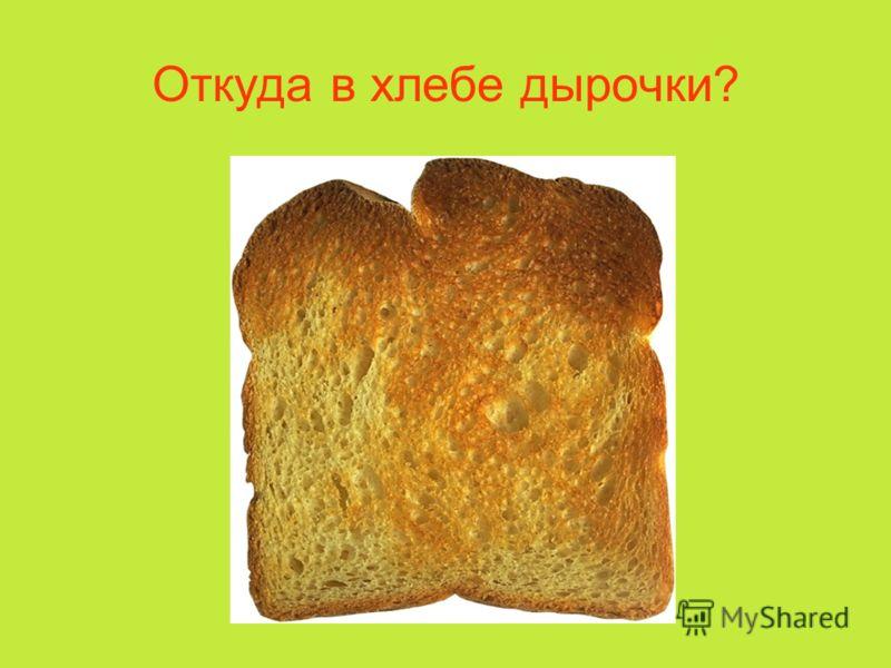 Откуда в хлебе дырочки?